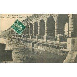 INONDATION ET CRUE PARIS 1910. Pont de Bercy