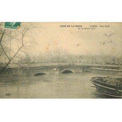 INONDATION ET CRUE PARIS 1910. Pont Neuf