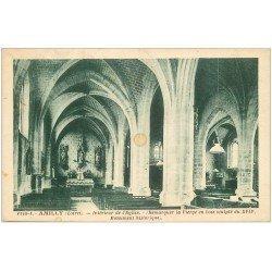 carte postale ancienne 45 AMILLY. Eglise avec Vierge en bois sculpté