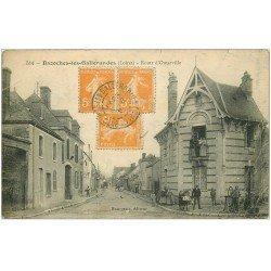 carte postale ancienne 45 BAZOCHES-LES-GALLERANDES. Route d'Outarville 1921