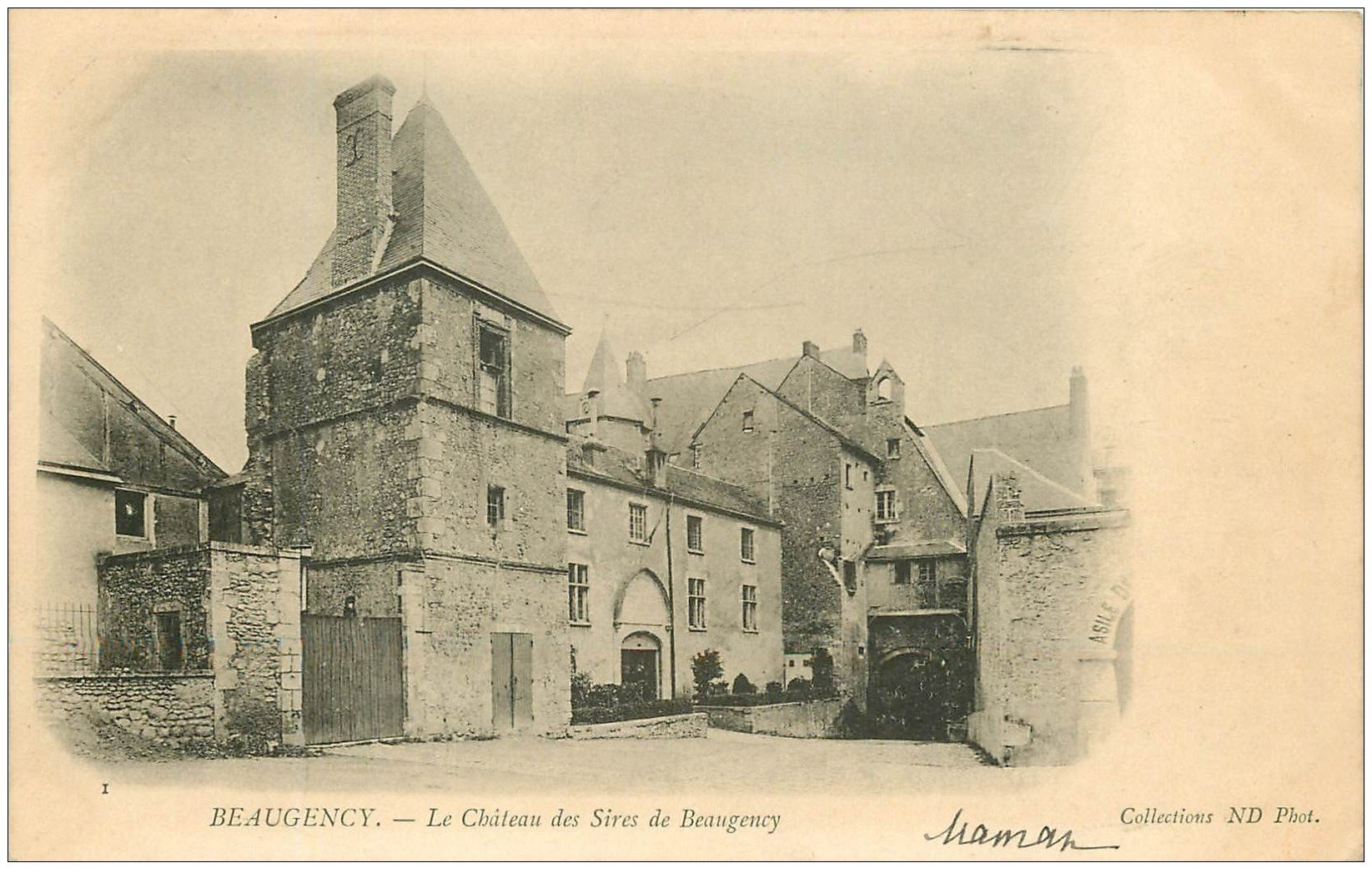 carte postale ancienne 45 BEAUGENCY. Château des Sires vers 1900