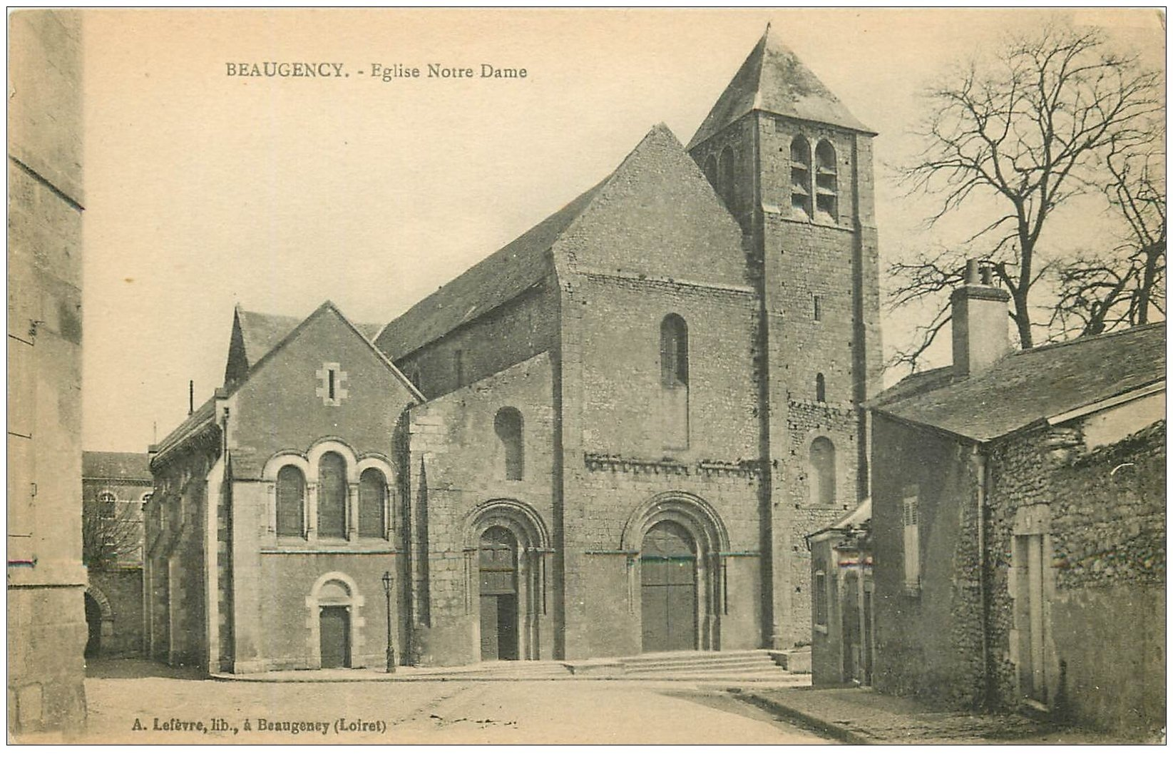 carte postale ancienne 45 BEAUGENCY. Eglise Notre-Dame