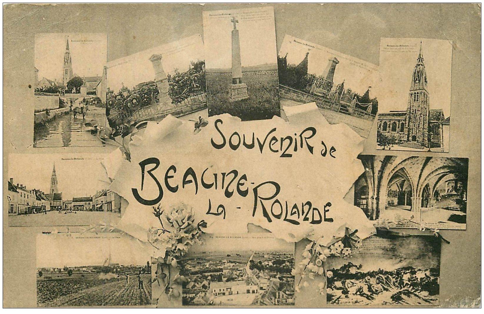 carte postale ancienne 45 BEAUNE-LA-ROLANDE. Souvenir