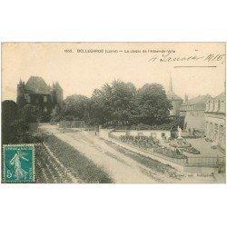 carte postale ancienne 45 BELLEGARDE. Jardin Hôtel de Ville 1916