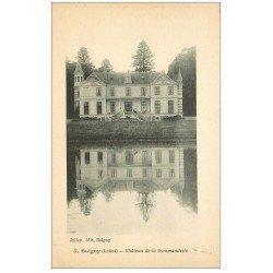 carte postale ancienne 45 BOIGNY. Château de la Commanderie petite animation