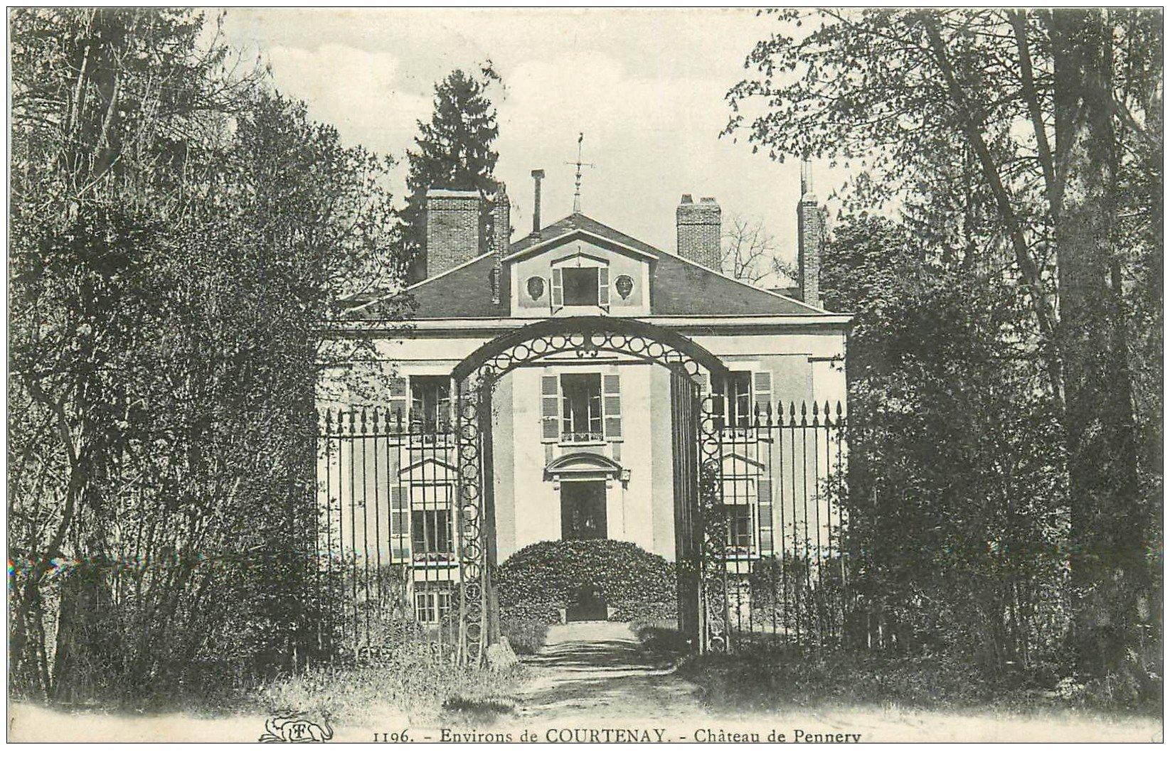 carte postale ancienne 45 CHATEAU DE PENNERY 1908