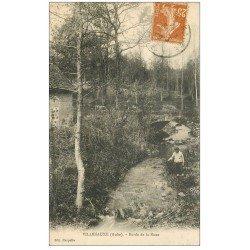 carte postale ancienne 10 VILLENAUXE. Gamin aux bords de la Noxe 1929
