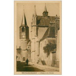 carte postale ancienne 45 CHATILLON-COLIGNY. Eglise et Clocher