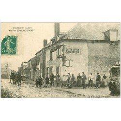 carte postale ancienne 45 CHATILLON-LE-ROI. Café de l'Union Maison Couture-Ducrot. Tampon Bazoches 1910