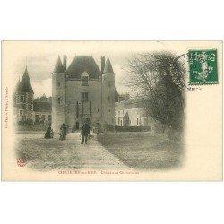 carte postale ancienne 45 CHILLEURS-AUX-BOIS. Château Chamerolles animé 1907