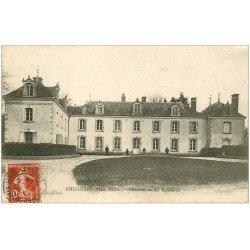 carte postale ancienne 45 CHILLEURS-AUX-BOIS. Château Saussaye 1909