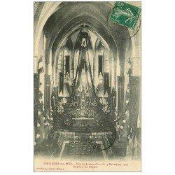 carte postale ancienne 45 CHILLEURS-AUX-BOIS. Eglise 1911 Fête Jeanne d'Arc