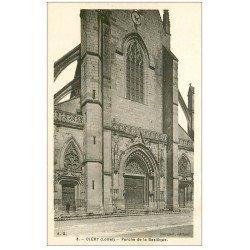 carte postale ancienne 45 CLERY. Porche Basilique