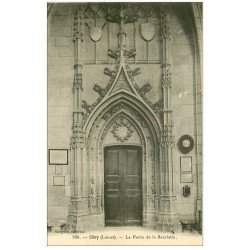 carte postale ancienne 45 CLERY. Porte Sacristie