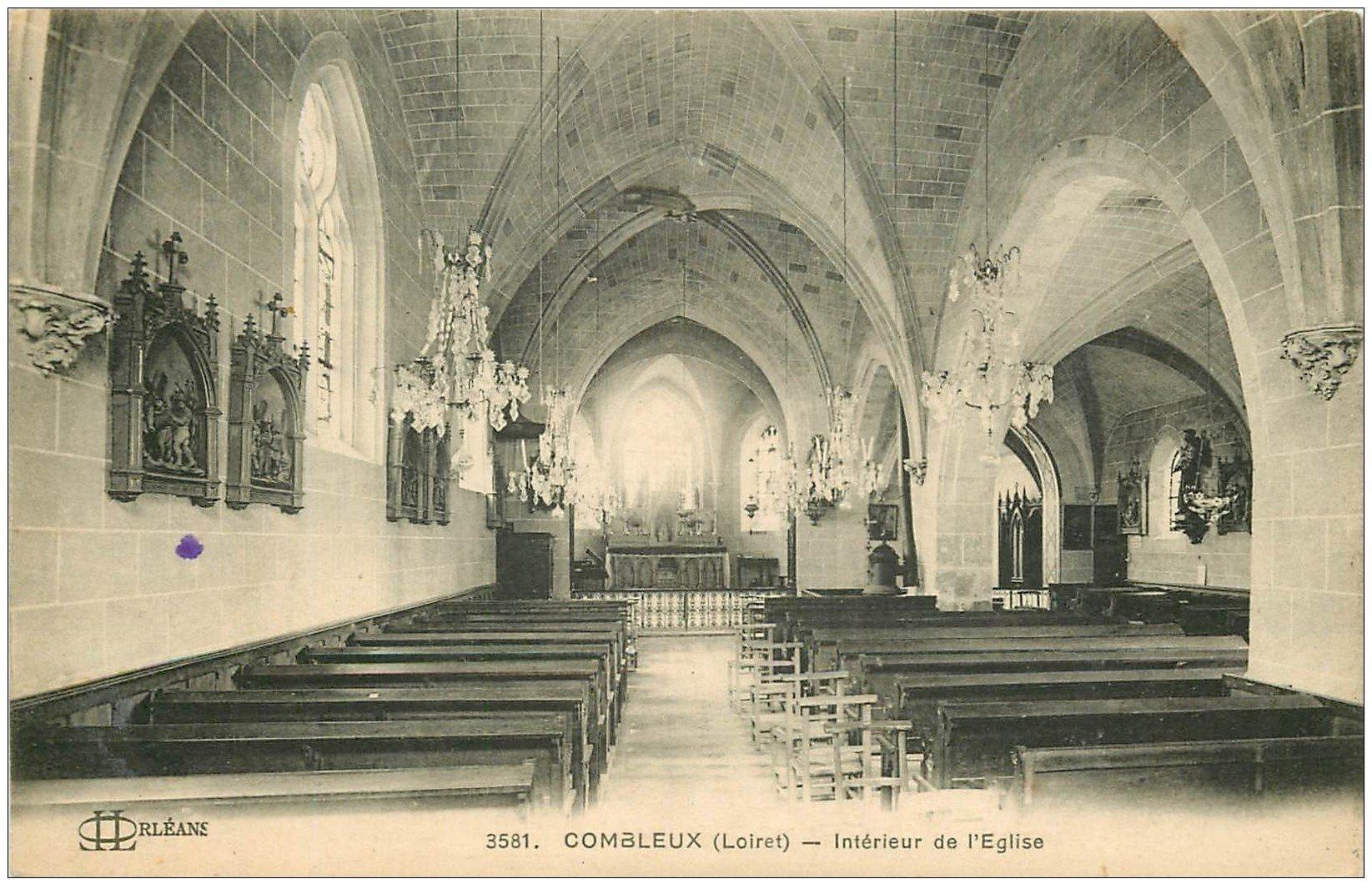 carte postale ancienne 45 COMBLEUX. L'Eglise