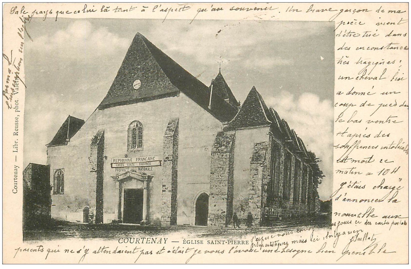 carte postale ancienne 45 COURTENAY. Eglise Saint-Pierre 1904
