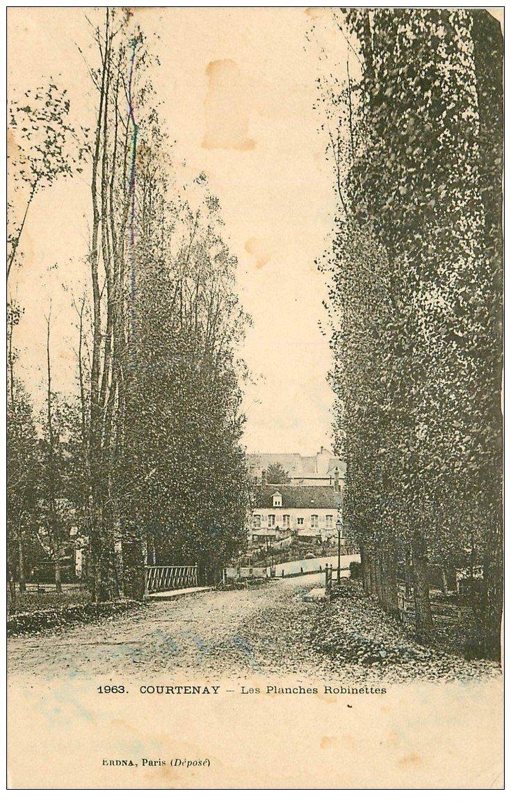 carte postale ancienne 45 COURTENAY. Les Plaches Robinettes 1940