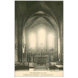 carte postale ancienne 45 ESCRENNES. Nef de l'Eglise