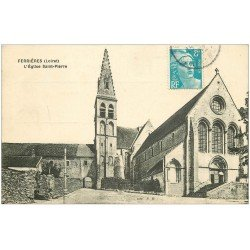 carte postale ancienne 45 FERRIERES-EN-GATINAIS. Eglise Saint-Pierre envoyée qu'en 1952...