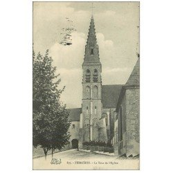 carte postale ancienne 45 FERRIERES-EN-GATINAIS. Eglise Tour 1909