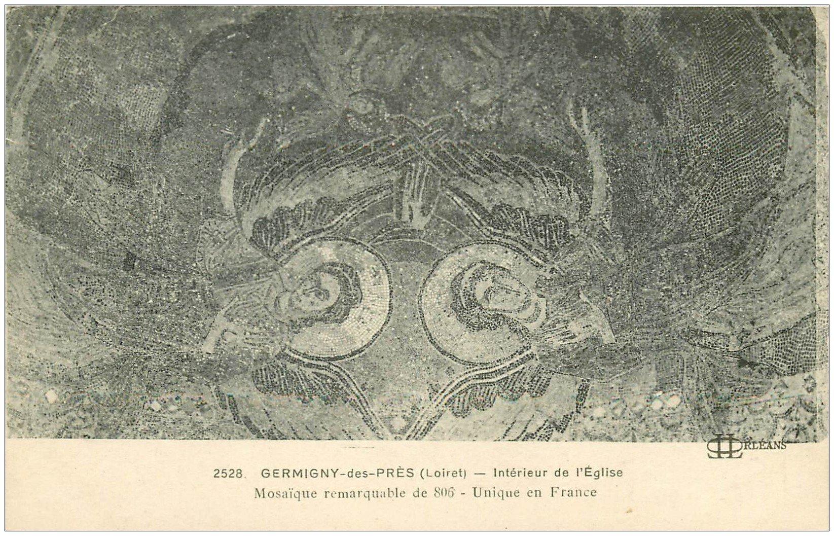 carte postale ancienne 45 GERMIGNY-DES-PRES. Mosaïque Eglise