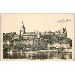 carte postale ancienne 45 GIEN. Le Château 1934