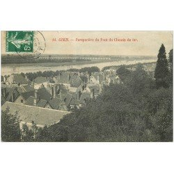 carte postale ancienne 45 GIEN. Pont du Chemin de Fer 1908