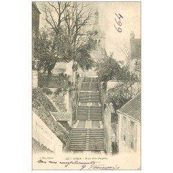 carte postale ancienne 45 GIEN. Rue des Degrés 1903