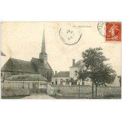carte postale ancienne 45 IZY. Eglise et Ecole 1907. Tampon Bazoches-les-Gaillardes