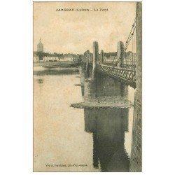 carte postale ancienne 45 JARGEAU. Le Pont 1914