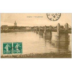 carte postale ancienne 45 JARGEAU. Vue générale