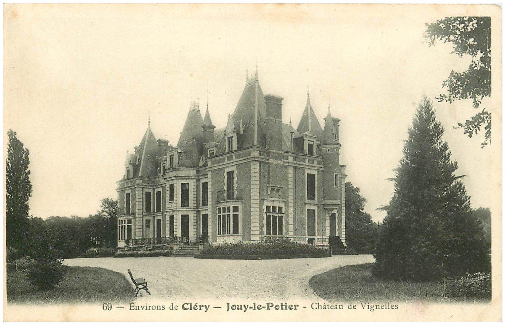 carte postale ancienne 45 JOUY-LE-POTIER. Château de Vignelles