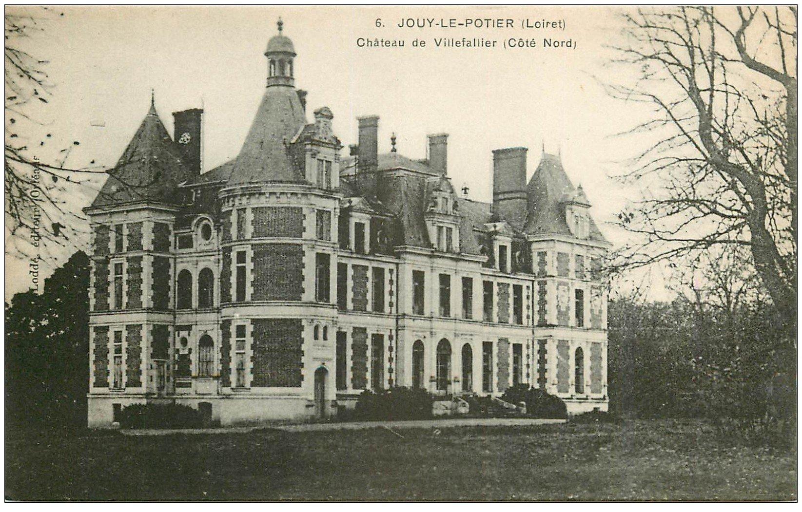 carte postale ancienne 45 JOUY-LE-POTIER. Château Villefallier