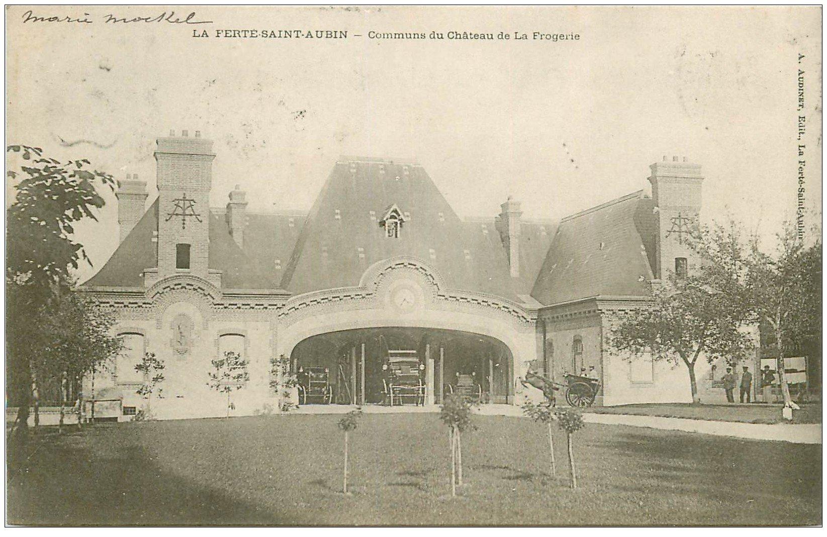 carte postale ancienne 45 LA FERTE-SAINT-AUBIN. Château Frogerie les Communs 1904