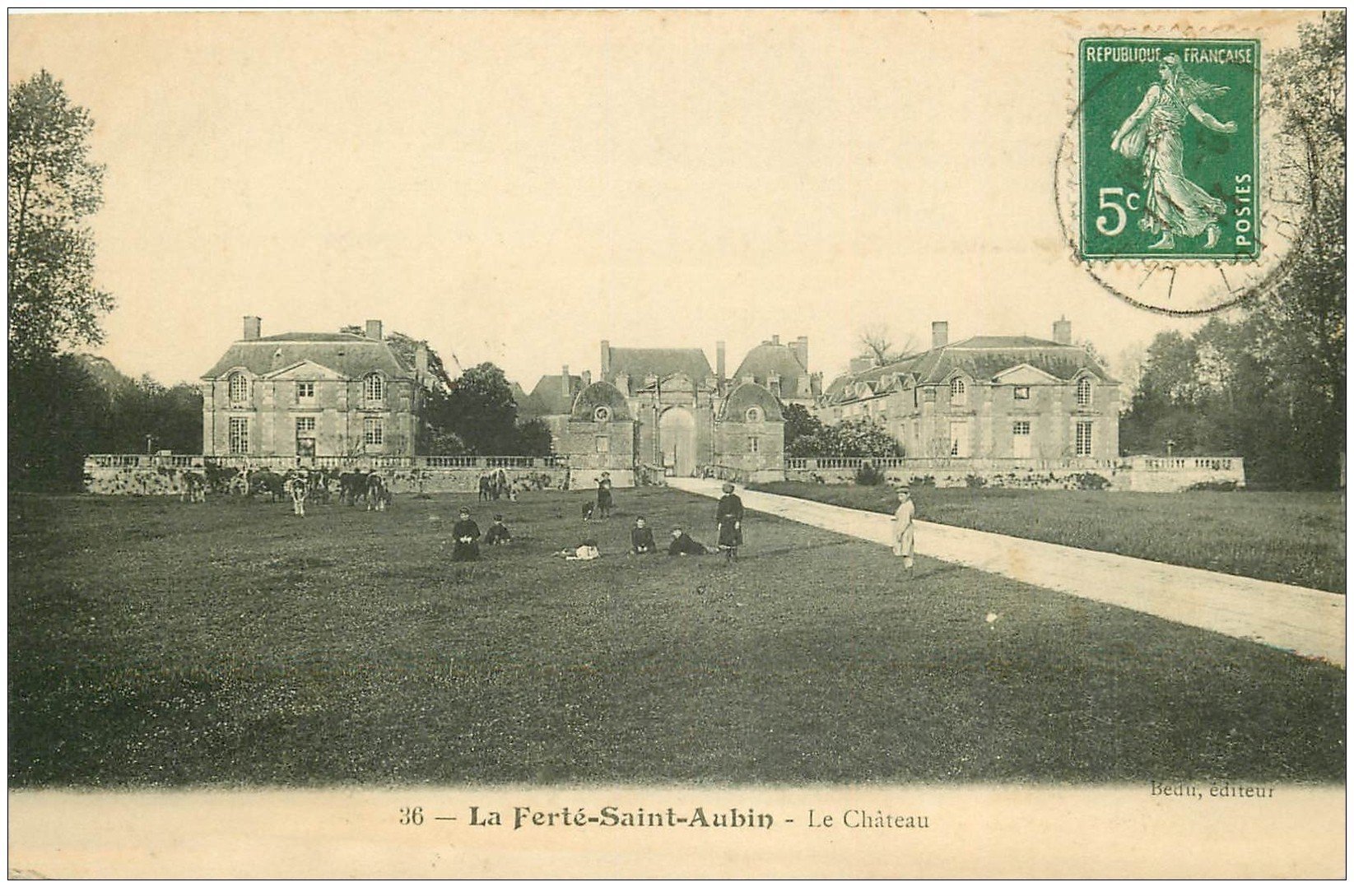 carte postale ancienne 45 LA FERTE-SAINT-AUBIN. Le Château 1923