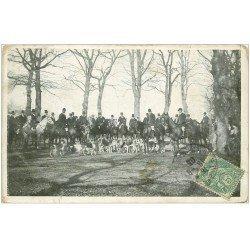 carte postale ancienne 45 LE LOIRET. La Chasse à Courre 1905. Equipage et Chiens de chasse