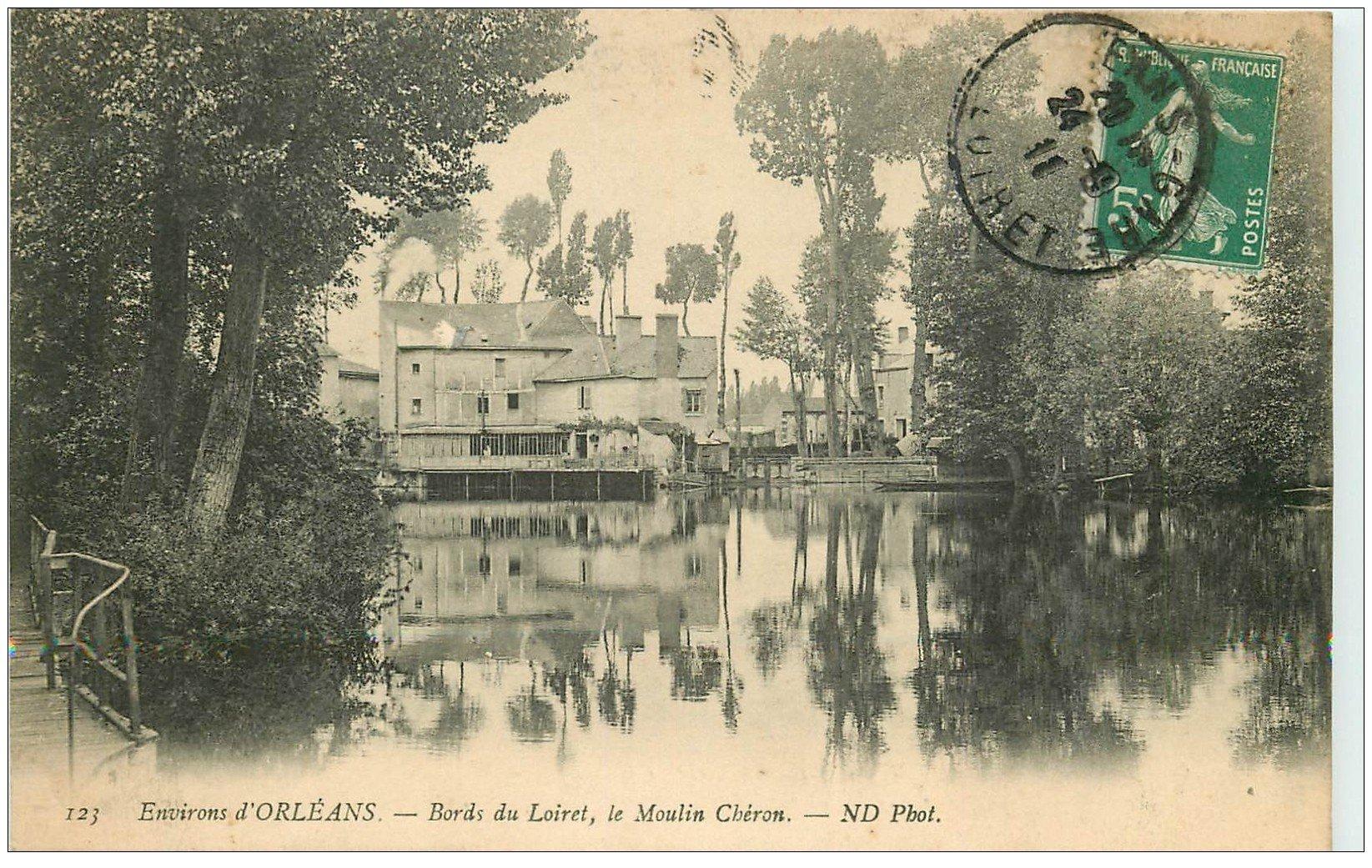carte postale ancienne 45 LE MOULIN CHERON 1911