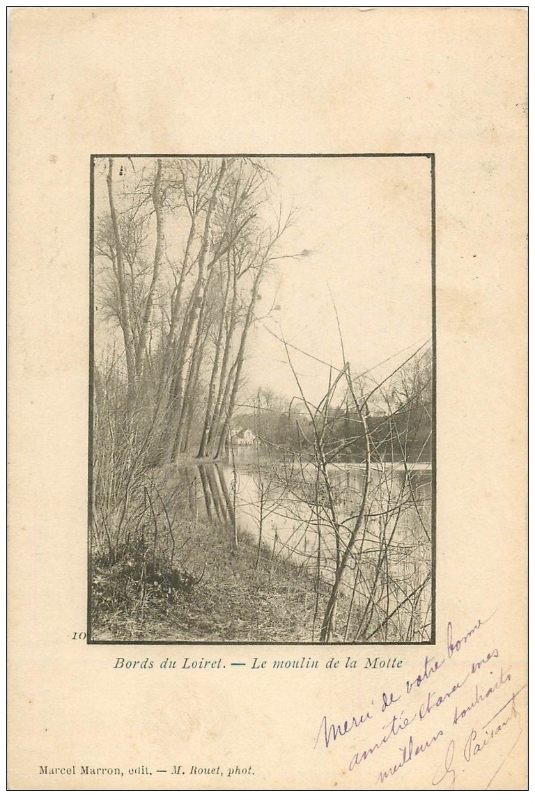 carte postale ancienne 45 LE MOULIN DE LA MOTTE 1902