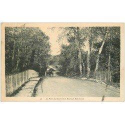 carte postale ancienne 45 LE PONT DU COUVENT Route de Roncevaux 1936