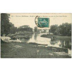 carte postale ancienne 45 LES MOULINS PONT SAINT-NICOLAS 1911