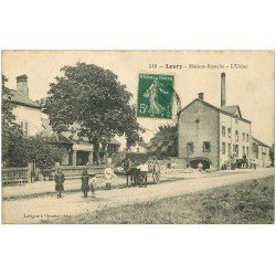 carte postale ancienne 45 LOURY. Maison-Blanche. L'Usine 1912
