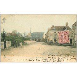 carte postale ancienne 45 LOURY. Route de Neuville 1905