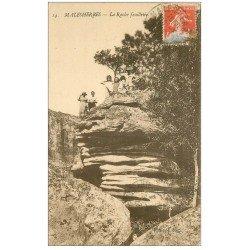 carte postale ancienne 45 MALESHERBES. La Roche feuilletée 1927 belle animation