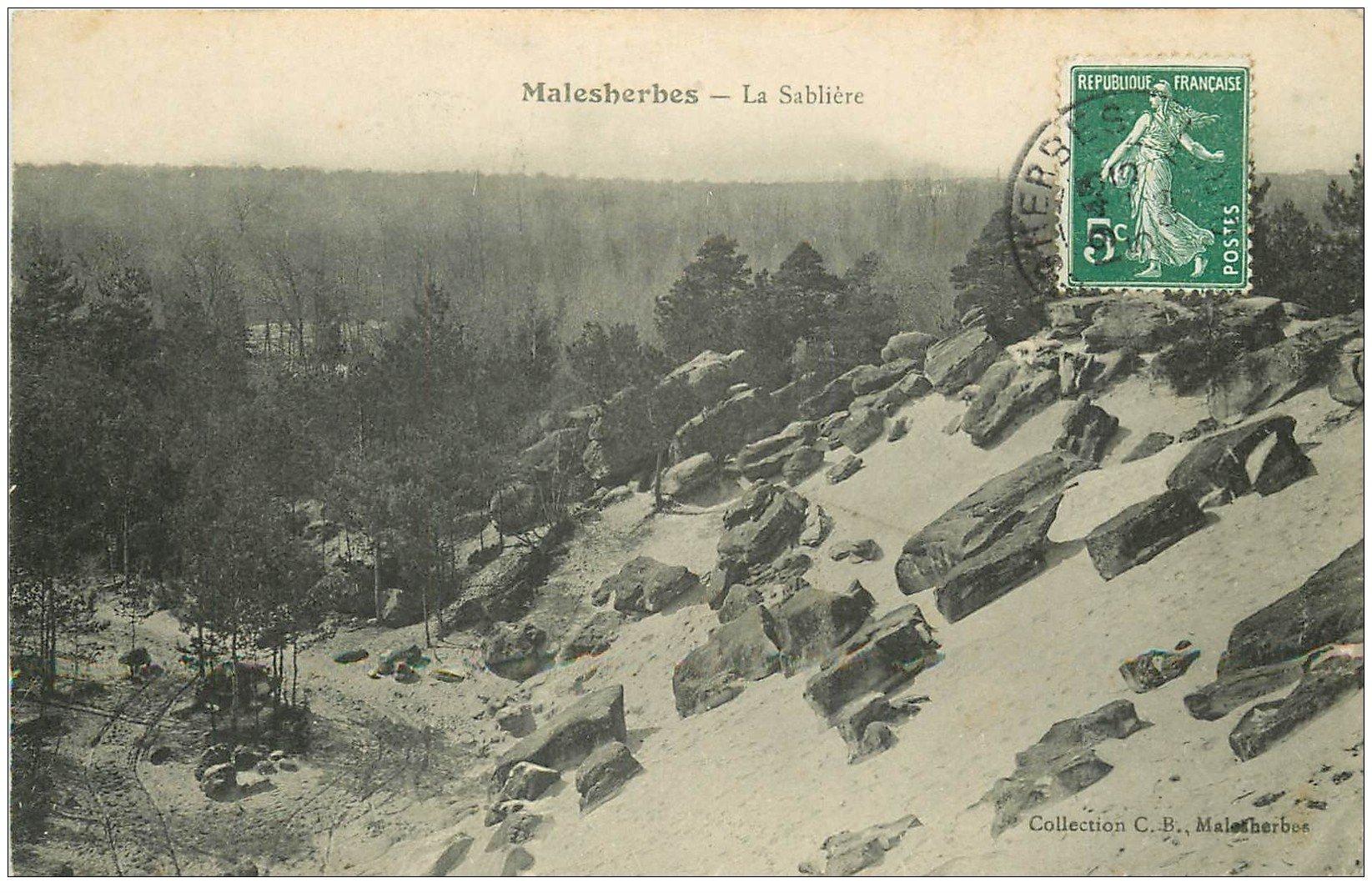 carte postale ancienne 45 MALESHERBES. La Sablière 1909