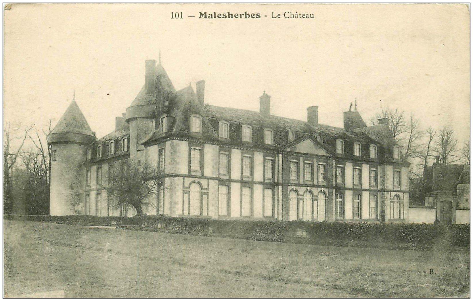 carte postale ancienne 45 MALESHERBES. Le Château