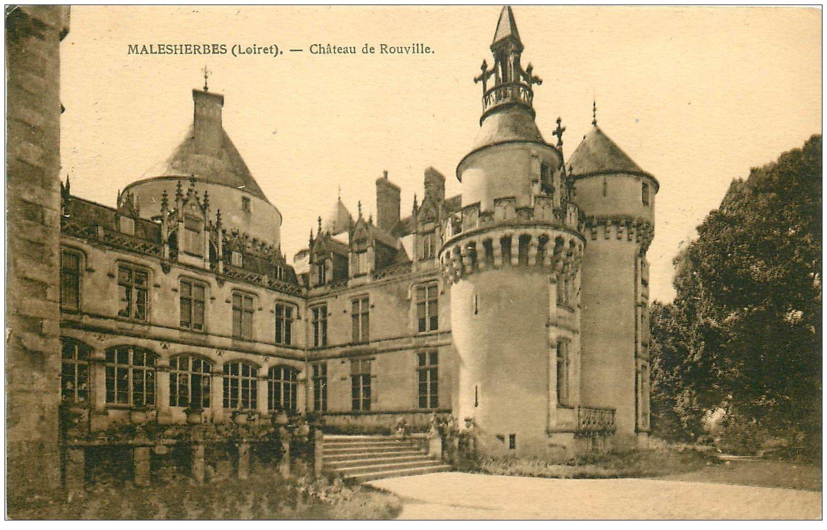 carte postale ancienne 45 MALESHERBES. Le Château de Rouville 1932