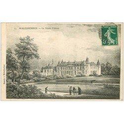carte postale ancienne 45 MALESHERBES. Le Vieux Château 1908