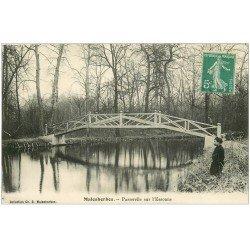 carte postale ancienne 45 MALESHERBES. Passerelle sur l'Essonne 1911
