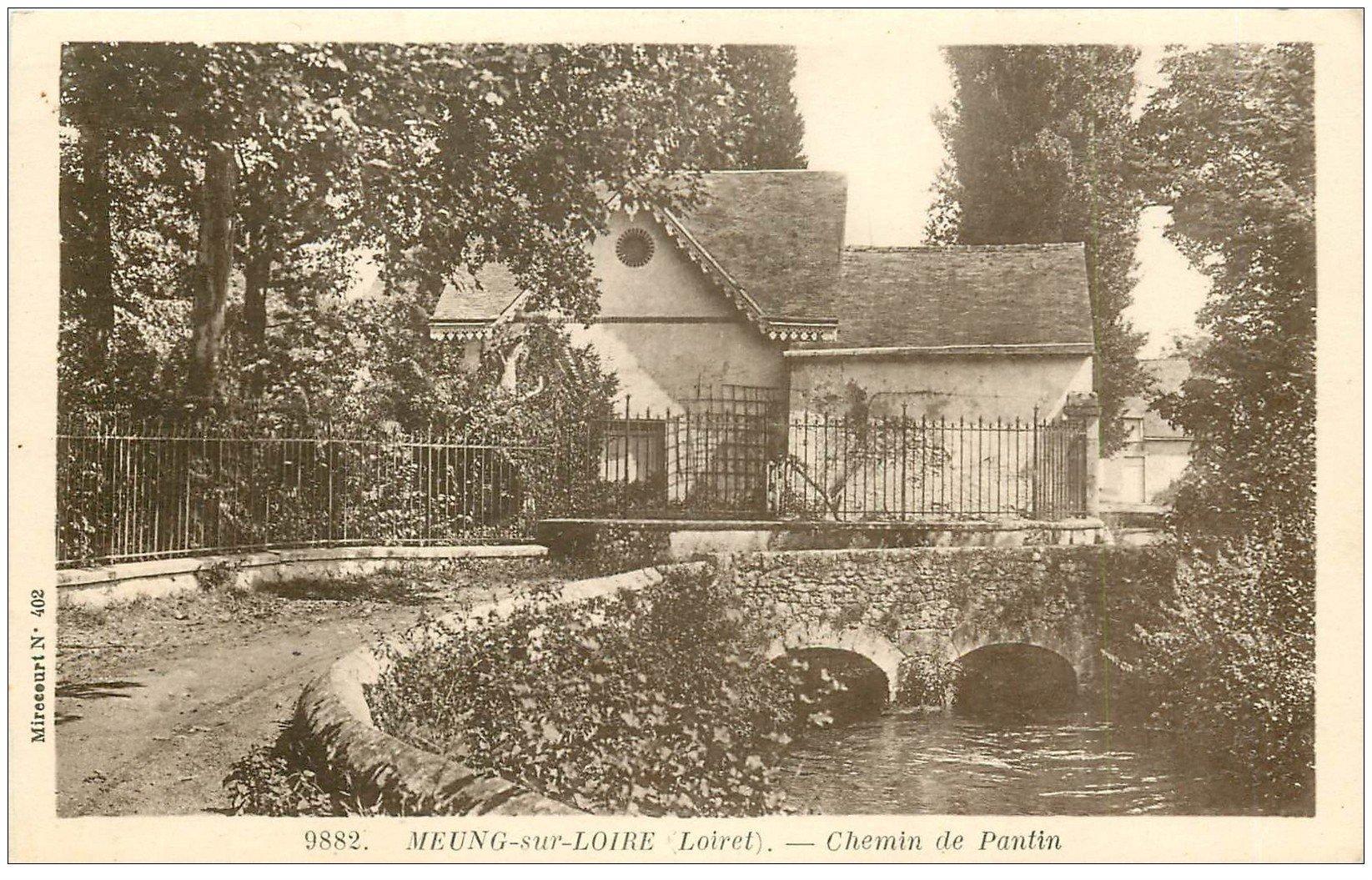 carte postale ancienne 45 MEUNG-SUR-LOIRE. Chemin de Pantin