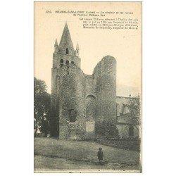 carte postale ancienne 45 MEUNG-SUR-LOIRE. Clocher avec Enfant 1918